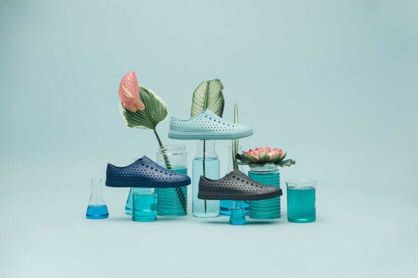 Scarpe fatte con le alghe