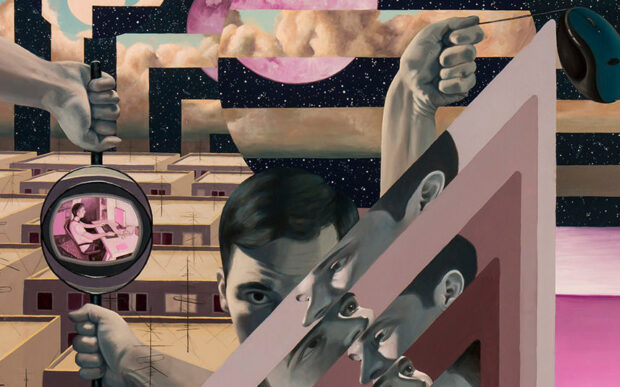 I dipinti futuristici di Victor Fota