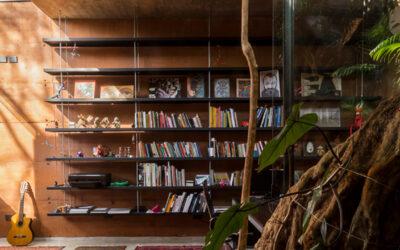 Lasciarsi ispirare da avvolgenti librerie domestiche