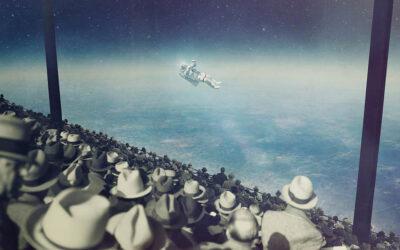Universo e Vintage nei collage di Joseba Elorza
