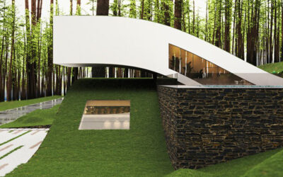 Una landscape house dai volumi fluttuanti