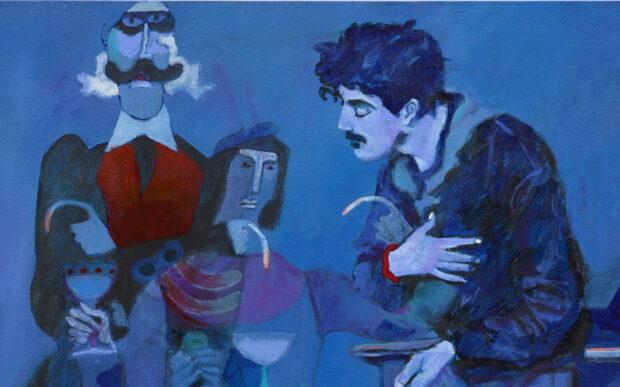 I dipinti di blu di Joshua Petker
