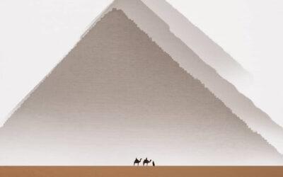 Le Grandi Piramidi di Giza nei particolari orizzonti Karim Amr