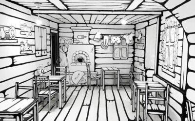Il suggestivo bar caffè russo che sembra uscito da un fumetto